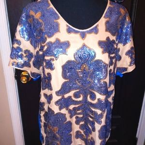 Neiman Marcus/ Tracy Reece NWT Sequin Med top